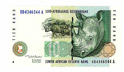 South Africa ... P-123b ... 10 Rand ... ND(1993) ... *UNC*