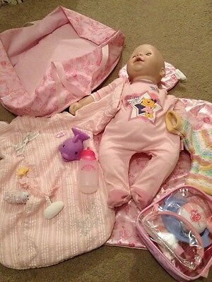 Collection Of Zapf Creation Doll And Accessories Chou Chou Baby Annabel
