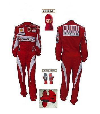 FERRARI Go Kart Race Suit CIK FIA Level 2 Approved Shoes with free gift Gloves