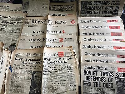 10 Newspapers From 1943-1945 Randomly Selected
