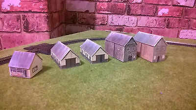 N Gauge Model Railway Graham Farish Collection Of Houses & Garages