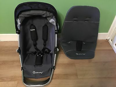 Rocking Black Quinny Buzz Seat Unit Frame With 2 Seat Unit Covers Stage 1 and 2