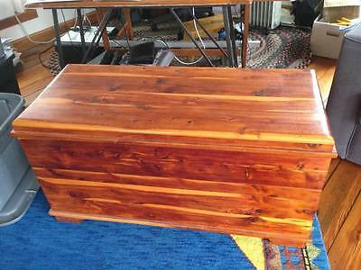 Handmade Rustic Vintage Antique Cedar Wood Blanket Hope Chest