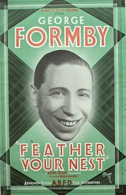 FEATHER YOUR NEST 1937 George Formby 17 x 11 TRADE ADVERT Poster