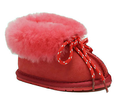 Cool Beans Genuine Sheepskin Slippers for Baby, Toddler, Little Kids. Girls Boys