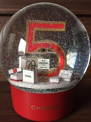 Large Red Electric Chanel Snow Globe - Boxed