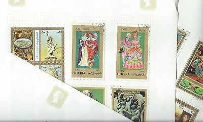 Fujeira  stamps. 2 pages of mainly CTO unchecked. (X462) United Arab Emirates