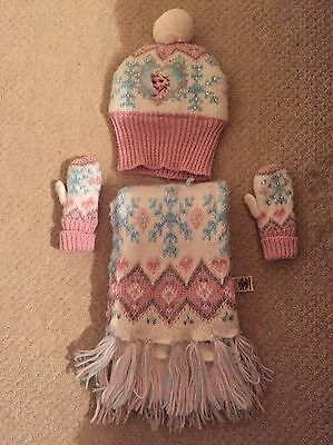 Frozen Hat Scarf And Gloves Set - Girls 2-4 Years