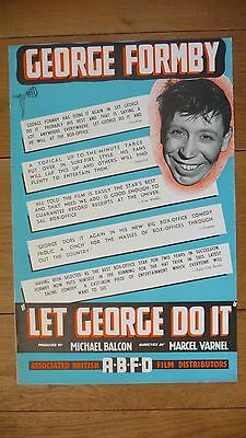 LET GEORGE DO IT 1940 George Formby  Phyllis Calvert TRADE ADVERT