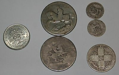 Mixed Lot English Sterling Silver COINS.