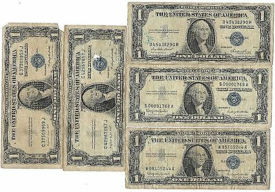 1957 US Blue Seal Silver Certificate One Dollar Bill Old Vintage Collection Lot