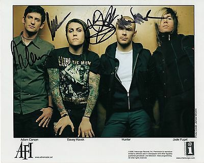 AFI autographed 8x10 color group photo     AWESOME BAND     A FIRE IN SIDE