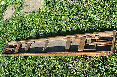 Antique school or old hall bench Rustic find