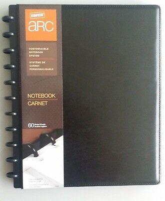 "Staples Arc Customizable Notebook System, Black, 8-1/2"" x 11"""