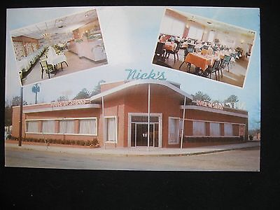 Nick's Resturant ca 1955 Richmond VA Postcard