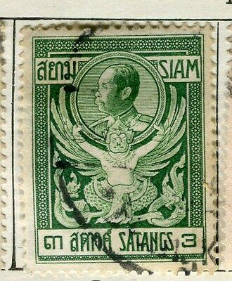 THAILAND;  1909 early Satangs issue fine used 3s.  value