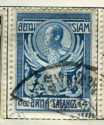THAILAND;  1909 early Satangs issue fine used 14s.  value