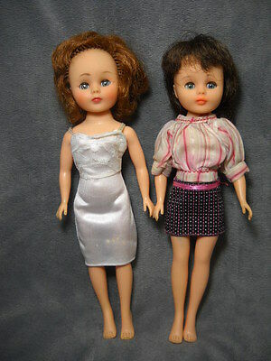 "Lot of 2 Vintage 1958 American Character 10.5"" Toni Fashion Dolls"