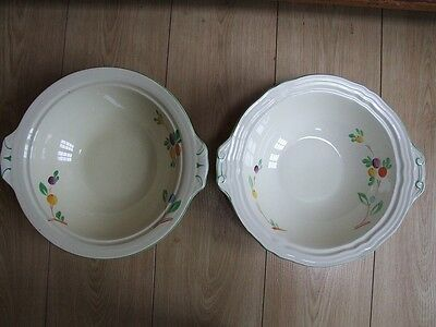 2 Grindley cream china hand decorated large bowls