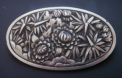 Beautiful Antique Chinese Export Silver Pin