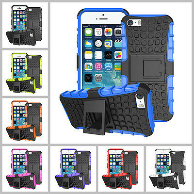 iPhone 5 5C 5S 6 6S Plus Heavy Duty Armor Phone Case Cover with Stand