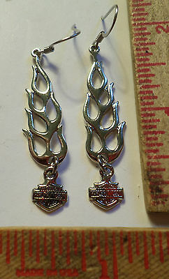 Vintage Harley earrings collectible old Hd motorcycle biker chick rider jewelry