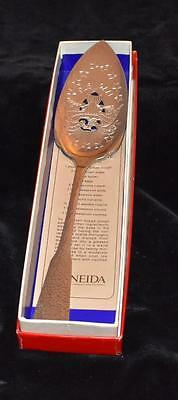 "Oneida Silver Plated Commemorative Patriotic Cake Server - 9.5""L - Mint in Box"