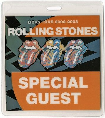 Rolling Stones authentic 2002-2003 concert tour Laminated Backstage Pass