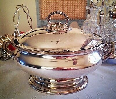 Wonderful Antique British SOUP TUREEN SILVER PLATE