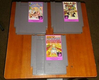 Nintendo Bubble Bath Babes Peek A Boo Poker Hot Slots Nes Game Carts Repro