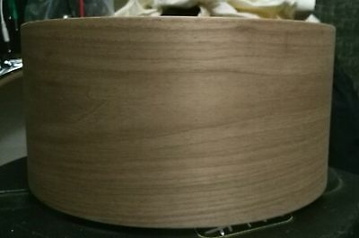 14x6.5 solid steambent black walnut snare drum shell by erie drums