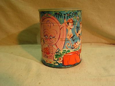"Folger's Tin Coffee Can W Lid Approx. 6 1/2""  x 5""   Beverage  Coffee  Tea  Tins"