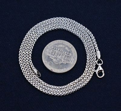 92b71418f88dc REAL SOLID 925 Sterling Silver 2Mm Thick Franco Chain Necklace Made ...
