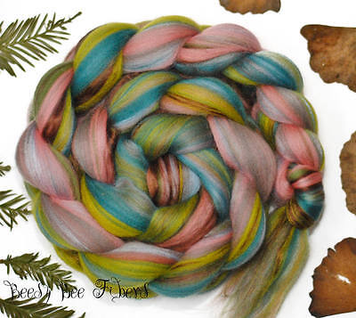 MISS POTTER Merino and Tussah Silk Combed Top Wool Roving for Spinning Felting