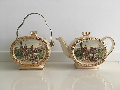 Sadler teapot and biscuit barrel