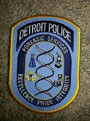 Detroit Michigan Police Sheriff Forensic Services Patch