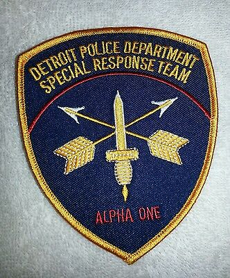 Detroit Michigan Police Sheriff Special Response Unit Alpha 1 Patch