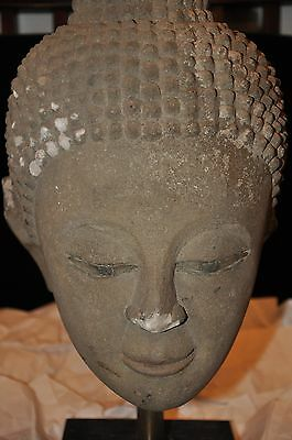 Antique Sand Stone  Buddha Head
