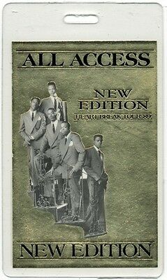 New Edition authentic 1989 concert tour Laminated Backstage Pass