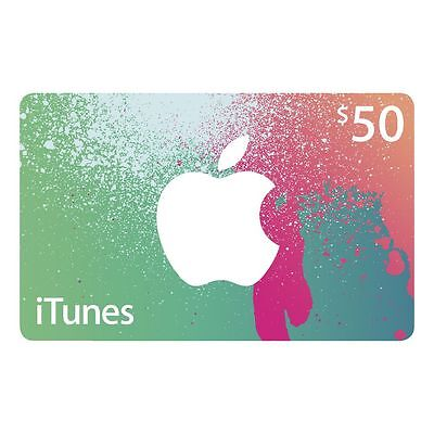 iTunes $50 Gift Card - Code emailed