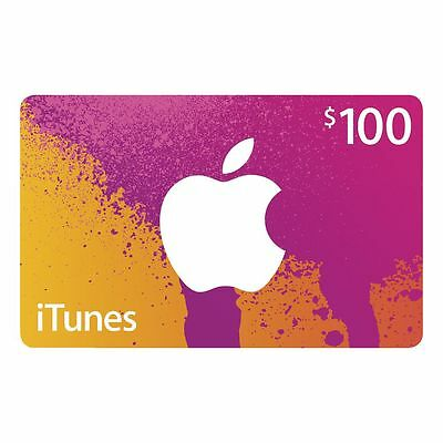 iTunes $100 Gift Card - Code emailed