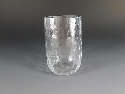 Coin Spot Clear Glass Tumbler / Drinking Glass Fenton