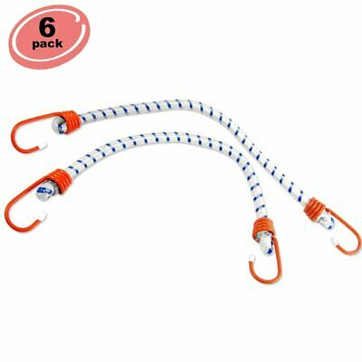 "6pc Bungee Cord 72"" inch Heavy Duty Straps 2 Hooks Tie Down Set"