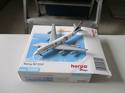 Herpa Wings  516020 Lufthansa Cargo  747-200F Version 2
