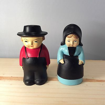 Amish Salt And Pepper Shakers, Girl And Boy