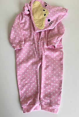 Seed Baby Girls Onesie With Hood Fits 0-3 Months