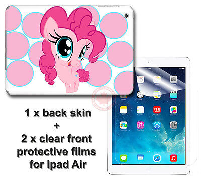 My Little Pony Pinkie Pie SKIN STICKER COVER and 2 protected films for iPad Air