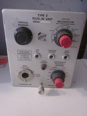 Tektronix Type E Low Level Differential Calibrated Ac Preamp Plug In Unit #1