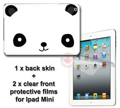 Panda Adorable Classical SKIN STICKER COVER and 2 protected films for iPad Mini