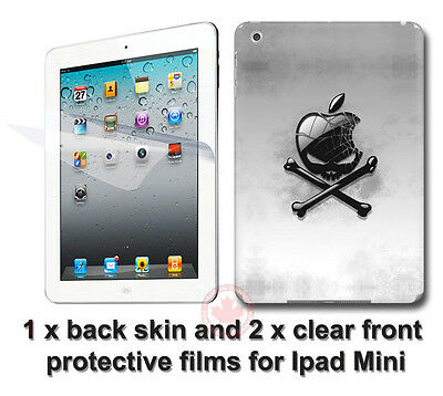 Cool Skull Arts SKIN STICKER COVER and 2 protected films Apple for iPad Mini